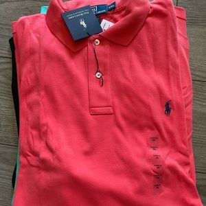 4 NWT POLO RALPH LAUREN THE INTERLOCK POLO